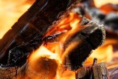 明亮的火背景 免版税图库摄影