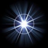 明亮的爆炸火光透镜 皇族释放例证