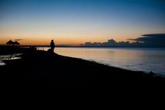 明亮的珍珠,青海湖 库存照片