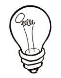 明亮的电灯泡想法光向量 库存照片