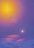 明亮的看板卡星形 向量例证