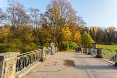 明亮的秋天横向 库存照片