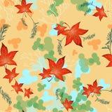 明亮的秋天红色叶子 免版税库存照片