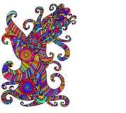 明亮的种族多彩多姿的样式,装饰抽象backgrou 向量例证