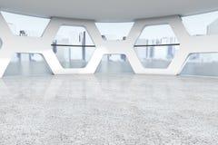 明亮的空的办公室摘要内部 3d翻译 库存图片