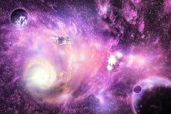 明亮的空间星系 库存图片