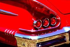 明亮的红色尾巴光 库存图片