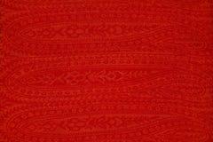 明亮的红色布料纹理  免版税库存照片