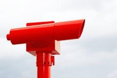 明亮的红色望远镜 免版税库存照片