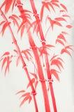 明亮的红色竹子 库存例证