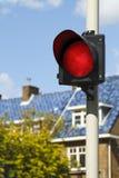 明亮的红色符号终止 免版税库存照片