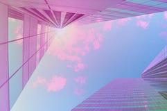 明亮的经济展望 晴朗花花公子块现代的办公室 库存照片