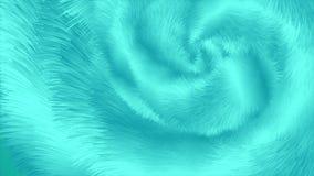 明亮的绿松石抽象蓬松毛皮作用录影动画 皇族释放例证