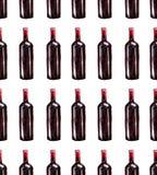 明亮的美丽的抽象图表可爱的美妙的逗人喜爱的可口鲜美美味的夏天瓶红葡萄酒样式 皇族释放例证