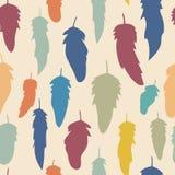 明亮的羽毛的无缝的样式您的设计的 库存图片
