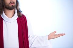 明亮的背景的耶稣 免版税库存图片