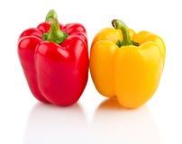 明亮的胡椒红色黄色 库存照片