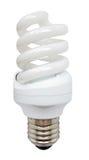 明亮的能源glassbulb京都能源节约白色 库存图片