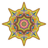 明亮的色的坛场 东方装饰样式 免版税库存图片