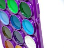 明亮的色的油漆 免版税库存图片
