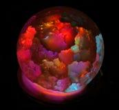 以明亮的色的球的形式灯 库存图片