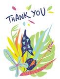 明亮的花卉卡片设计 免版税库存照片