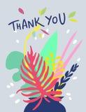 明亮的花卉卡片设计 免版税库存图片