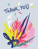 明亮的花卉卡片设计 库存照片