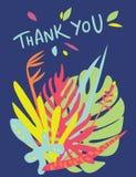 明亮的花卉卡片设计 库存图片