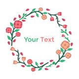明亮的花卉框架 库存图片