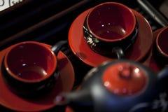 明亮的茶具 免版税库存照片