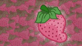 明亮的草莓带淡红色和 库存图片