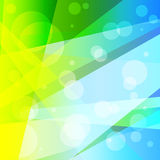 明亮的荧光的抽象几何五颜六色的背景传染媒介例证 免版税库存照片