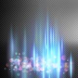 明亮的蓝色不可思议的光 10 eps 免版税库存照片