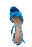 明亮的蓝色凉鞋 库存图片