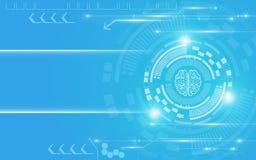明亮的蓝色和白色技术摘要背景 免版税库存照片