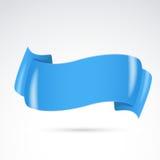 明亮的蓝色徽章条纹或标志设计 免版税库存照片