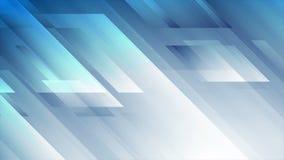 明亮的蓝色抽象高科技几何录影动画 库存例证
