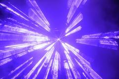 明亮的蓝色聚光灯或闪光灯 图库摄影