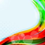 明亮的蓝色背景。抽象五颜六色的例证 免版税图库摄影