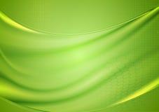 明亮的被弄脏的绿色波浪设计 库存图片