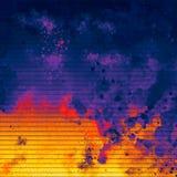 明亮的被设色的艺术 Highlighted构造了纸 墨迹冲程 背景脏织地不很细 纸土气 厚实的油漆飞溅艺术 向量例证