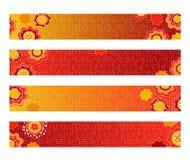 明亮的装饰花卉横幅 免版税库存图片