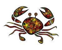 明亮的装饰螃蟹 皇族释放例证