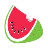 明亮的西瓜线艺术例证 免版税库存图片