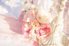 明亮的豪华婚礼开花背景 库存照片