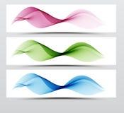明亮的速度网swoosh未来派波浪线集合 在蓝色和桃红色颜色的动态线汇集 免版税库存图片
