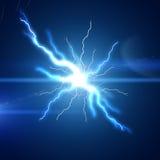 明亮的闪电闪光 库存图片