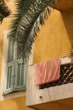 明亮的阳台 库存照片