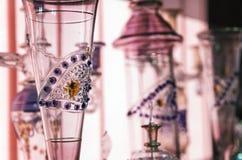明亮的阿拉伯玻璃器皿 库存图片